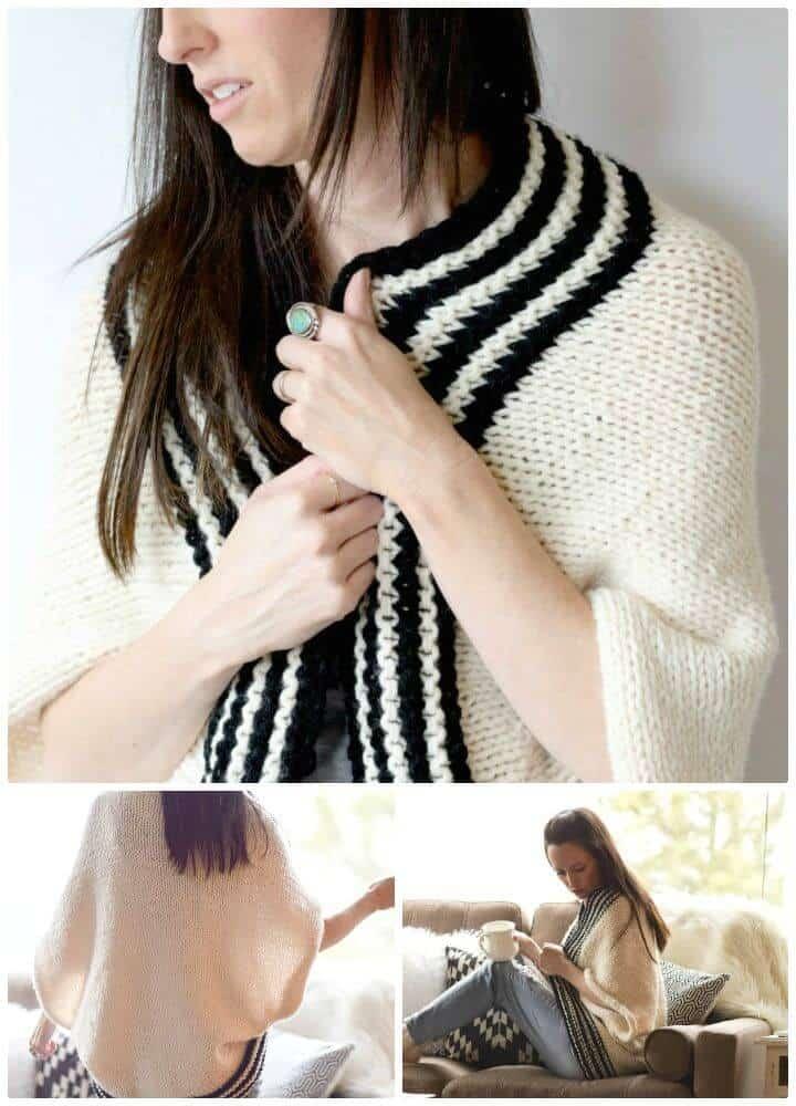 Cómo tejer un suéter de rayas clásico - Patrón libre