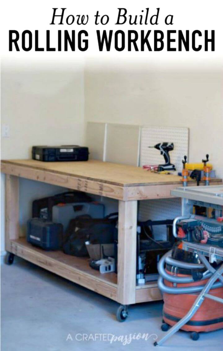 Tutorial fácil de cómo construir un banco de trabajo rodante