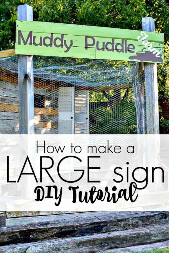 Cómo hacer un letrero grande fácil: bricolaje