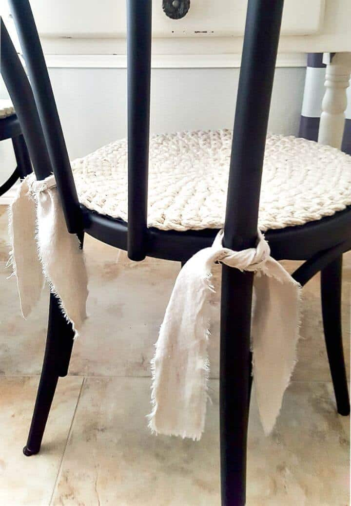 Cojines de asiento redondos fáciles de no coser: tutorial gratuito