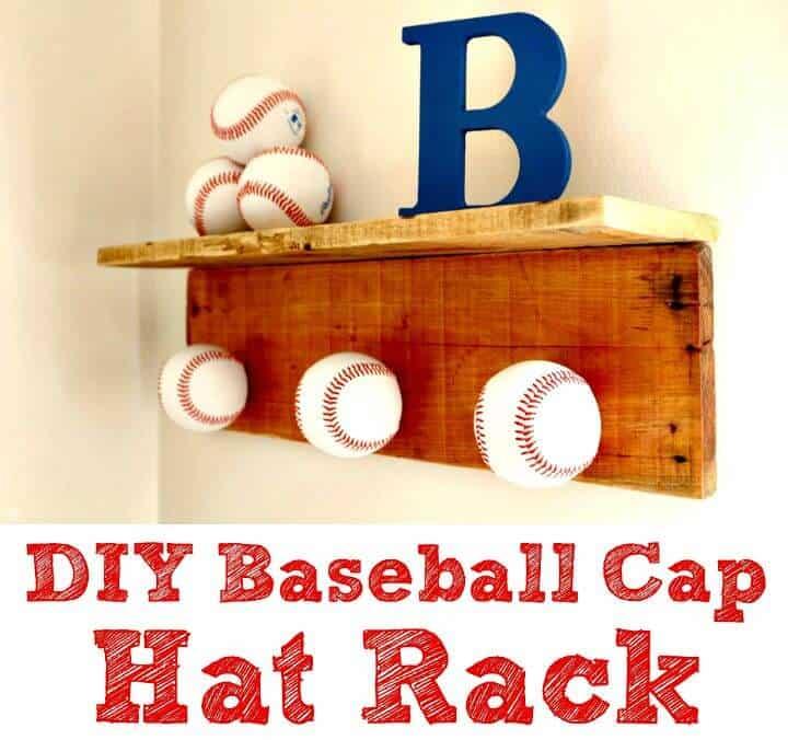 Perchero para gorra de béisbol de bricolaje - Proyectos de decoración del hogar