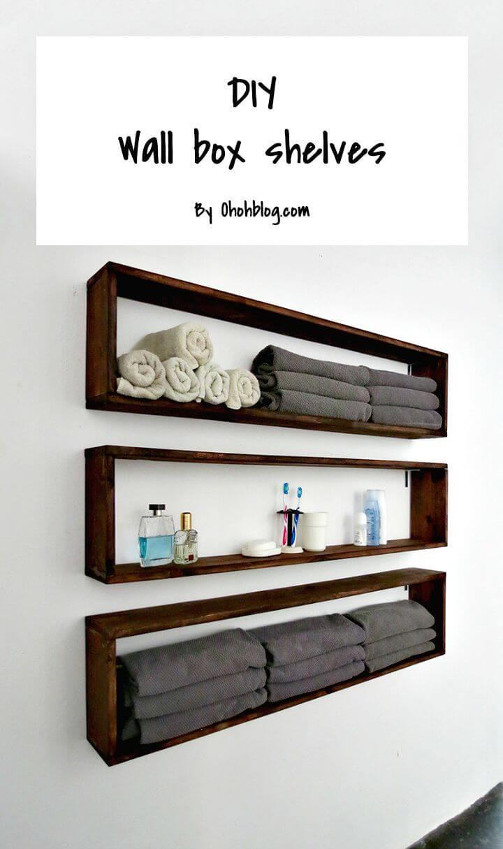 Estantes de baño fáciles de hacer
