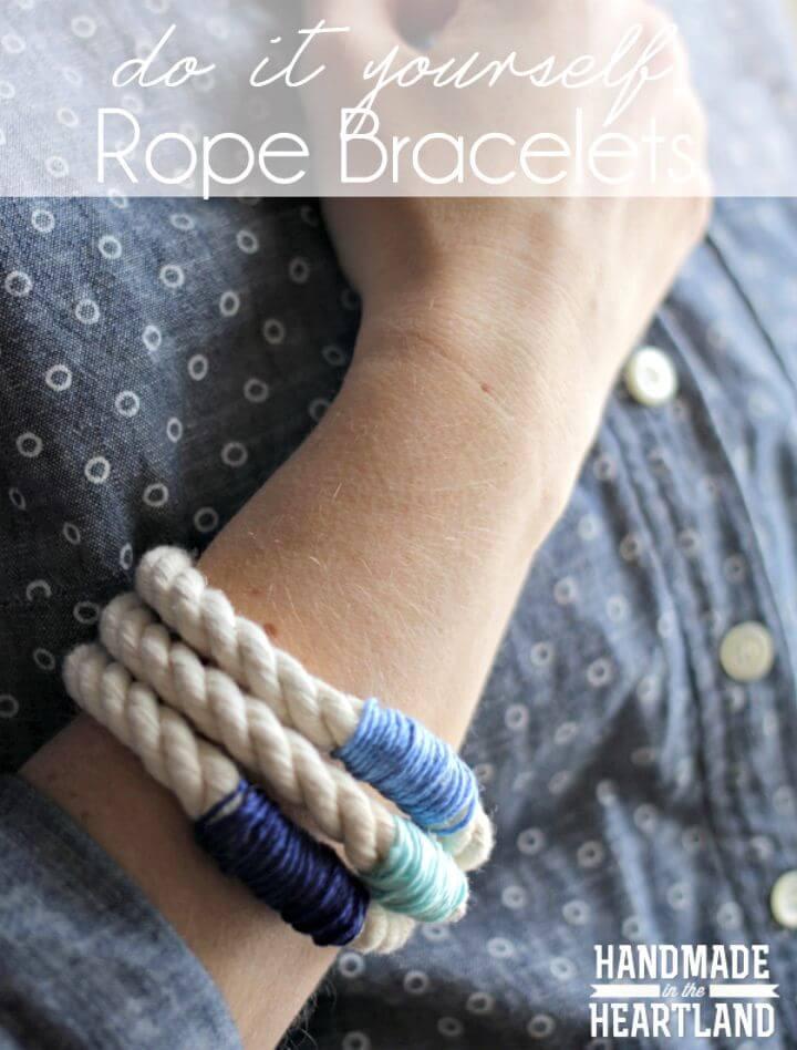 Pulseras de cuerda fáciles de hacer: bricolaje