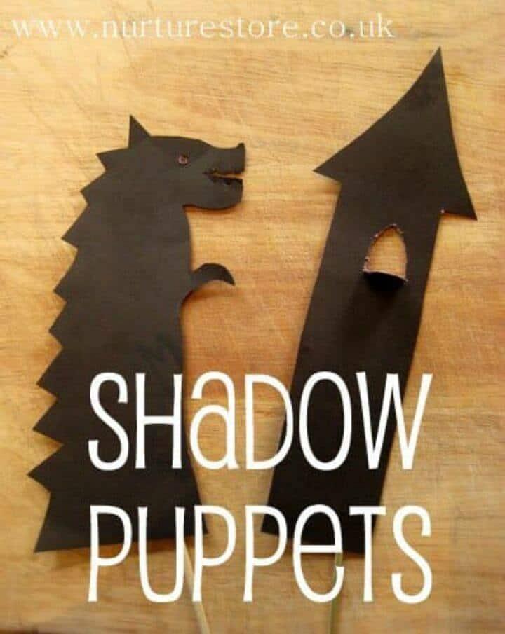 Increíbles marionetas de sombras de bricolaje