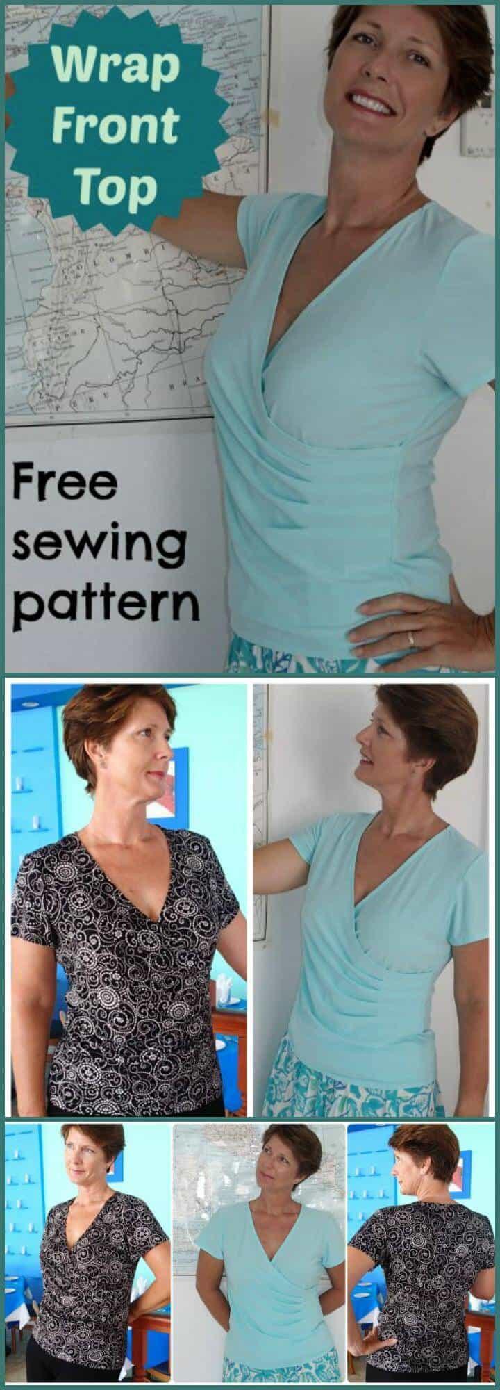 patrón de costura sin tapa fácil de envolver