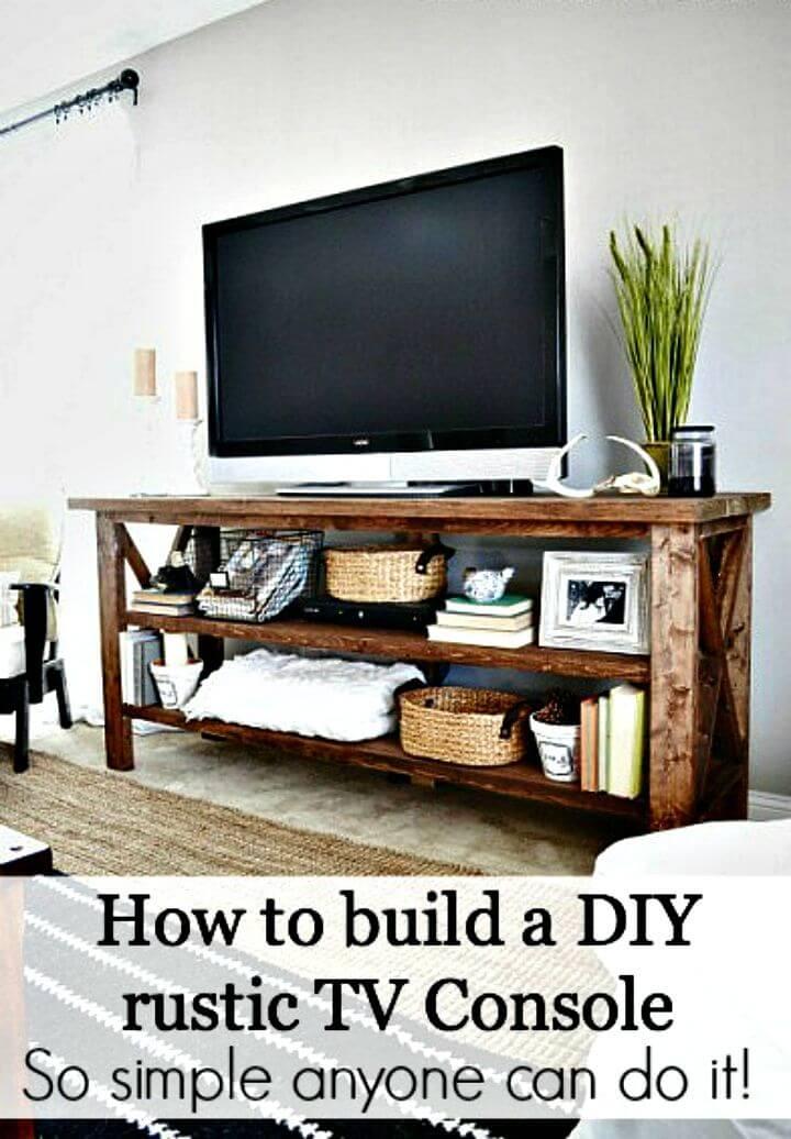 Soporte de TV de bricolaje fácil y simple