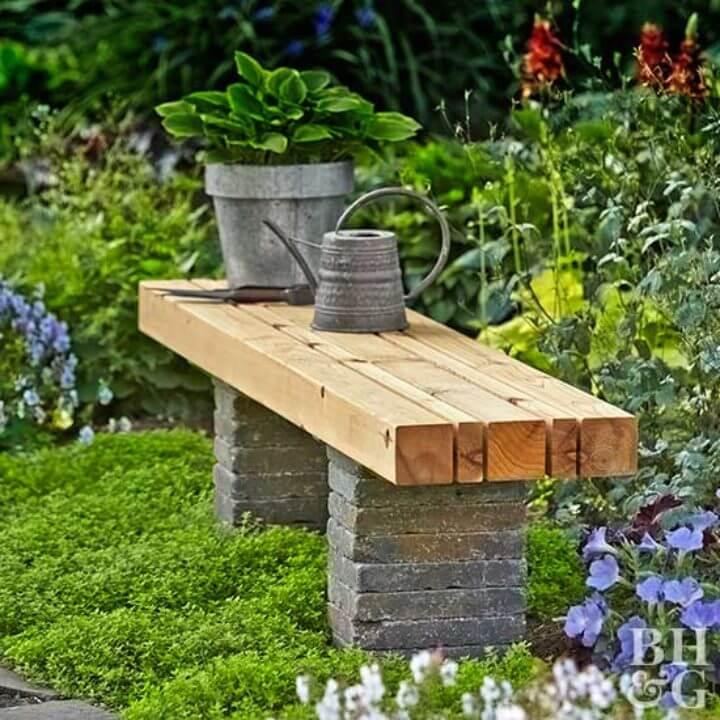 Banco de jardín fácil de construir