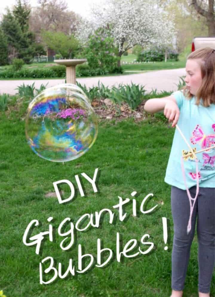 Receta épica de burbujas gigantes