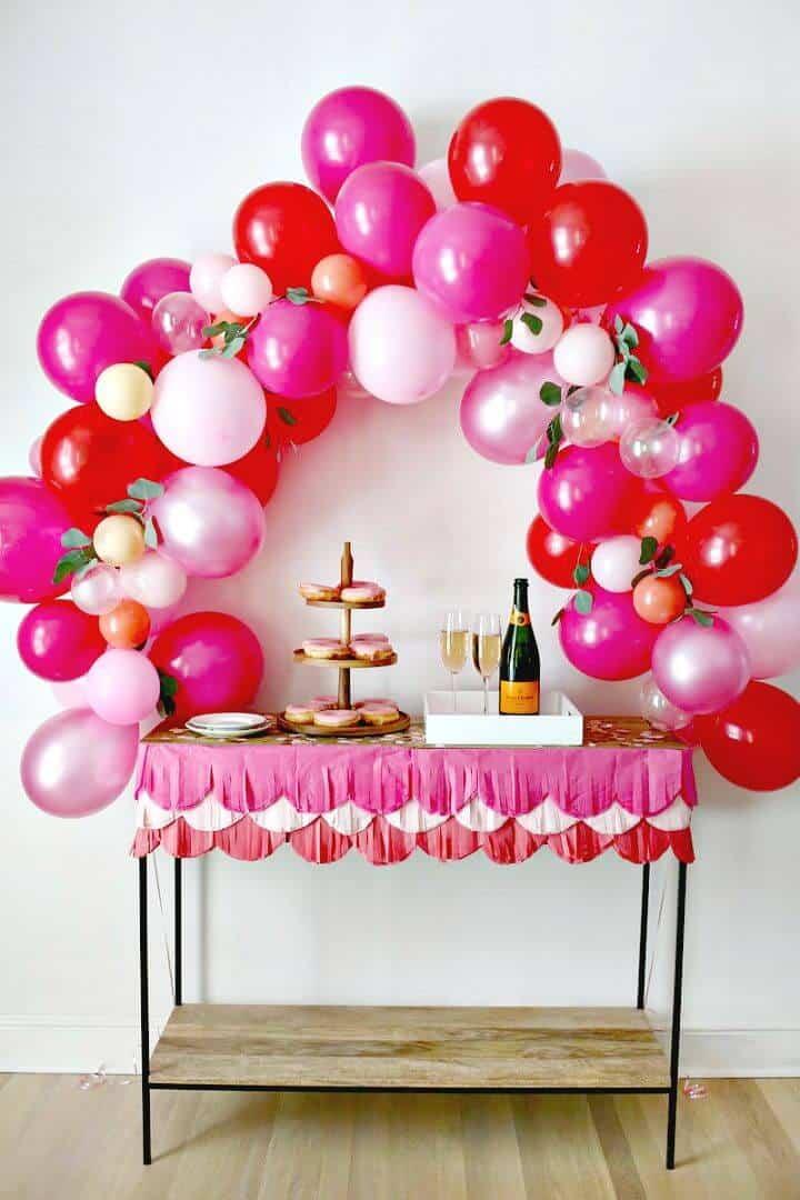 Arco de globo de bricolaje de lujo para cumpleaños