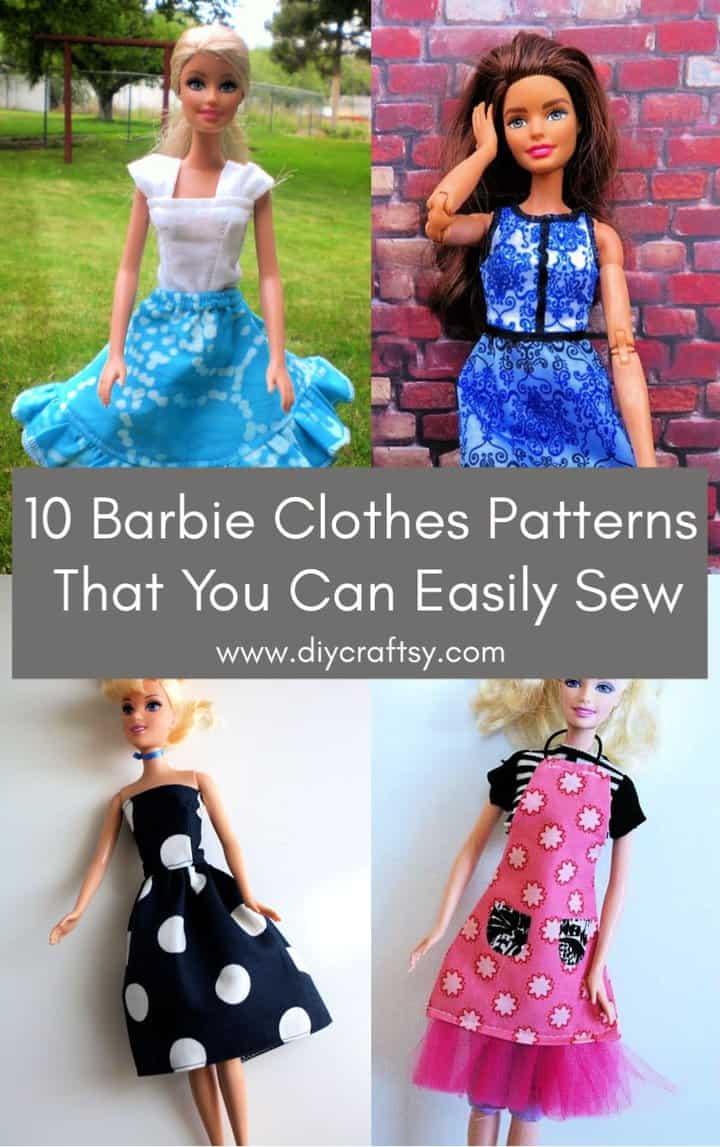 Patrones de ropa de Barbie gratis que puedes coser
