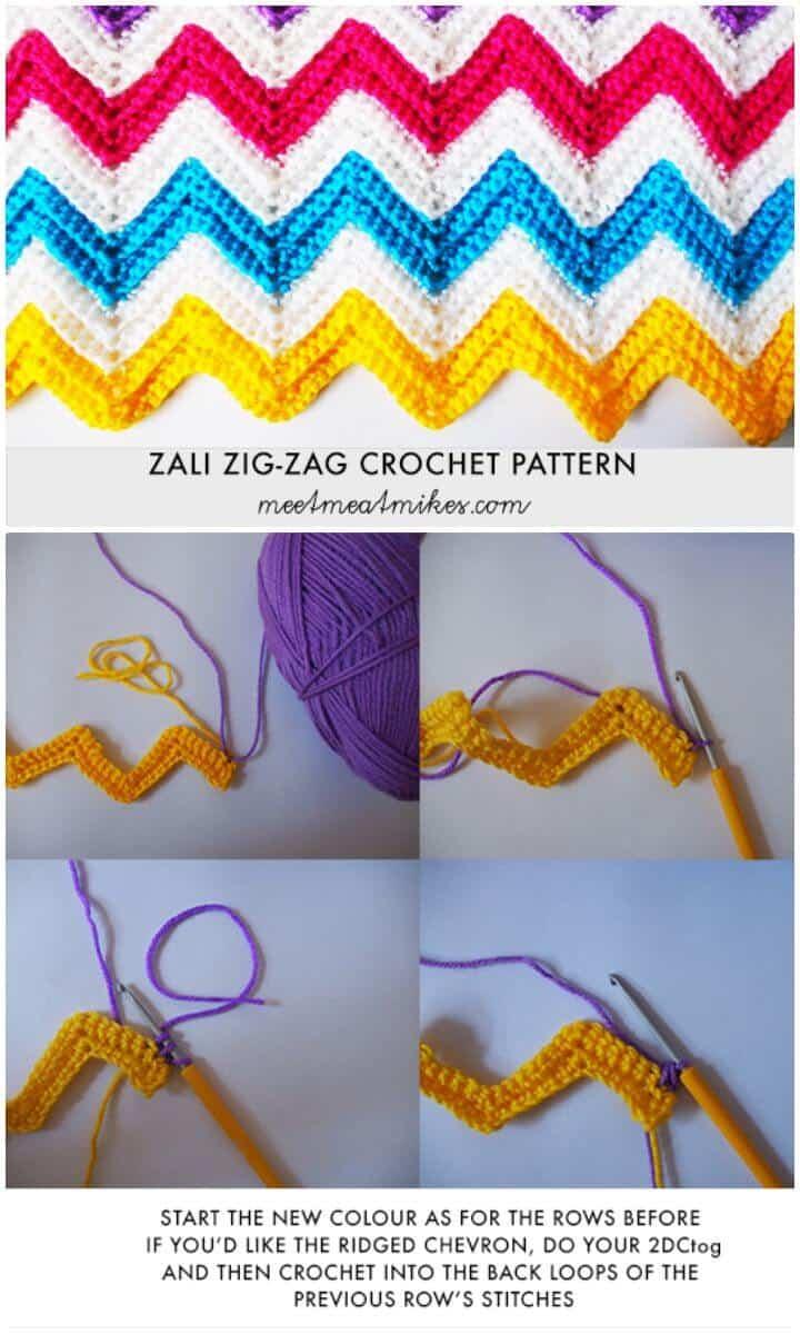Crochet A Zali Zig-Zag Chevron Blanket