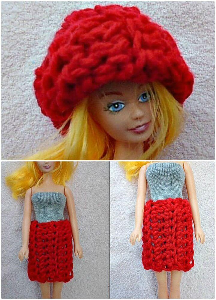 Ropa de muñeca Barbie de ganchillo - Patrón gratuito