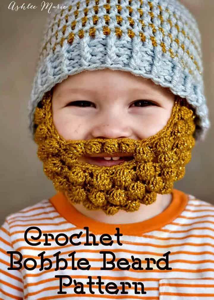 Cómo hacer un patrón de barba Bobble de ganchillo gratis