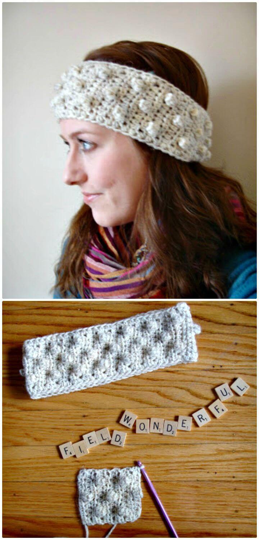Cómo liberar el patrón de diadema de crochet Bobble
