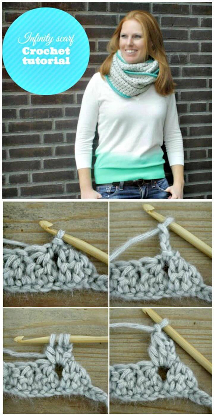 Cómo tejer una bufanda infinita de punto Bobble a ganchillo - Patrón gratuito