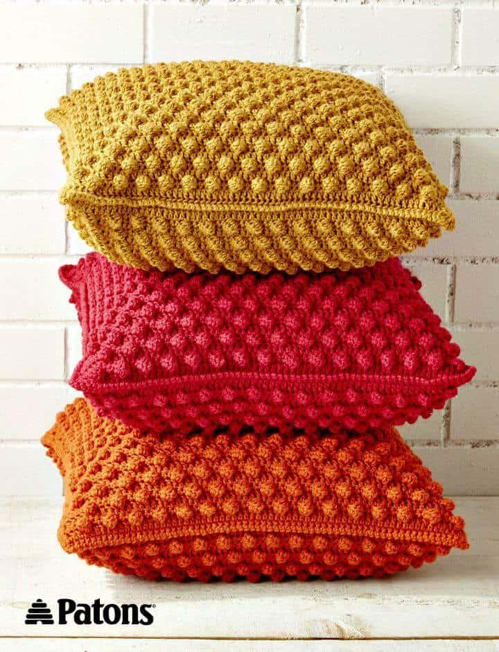 Cómo liberar el patrón de almohadas de crochet Bobble-licious