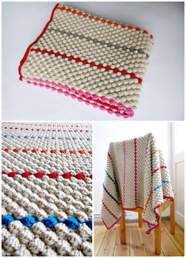 Cómo liberar el patrón de manta de crochet Bobbly