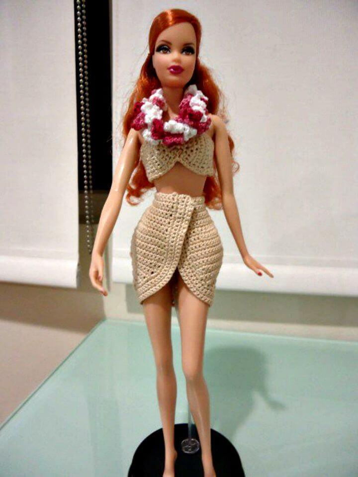 Ropa de crochet fácil para tu muñeca Barbie: consejos y patrón
