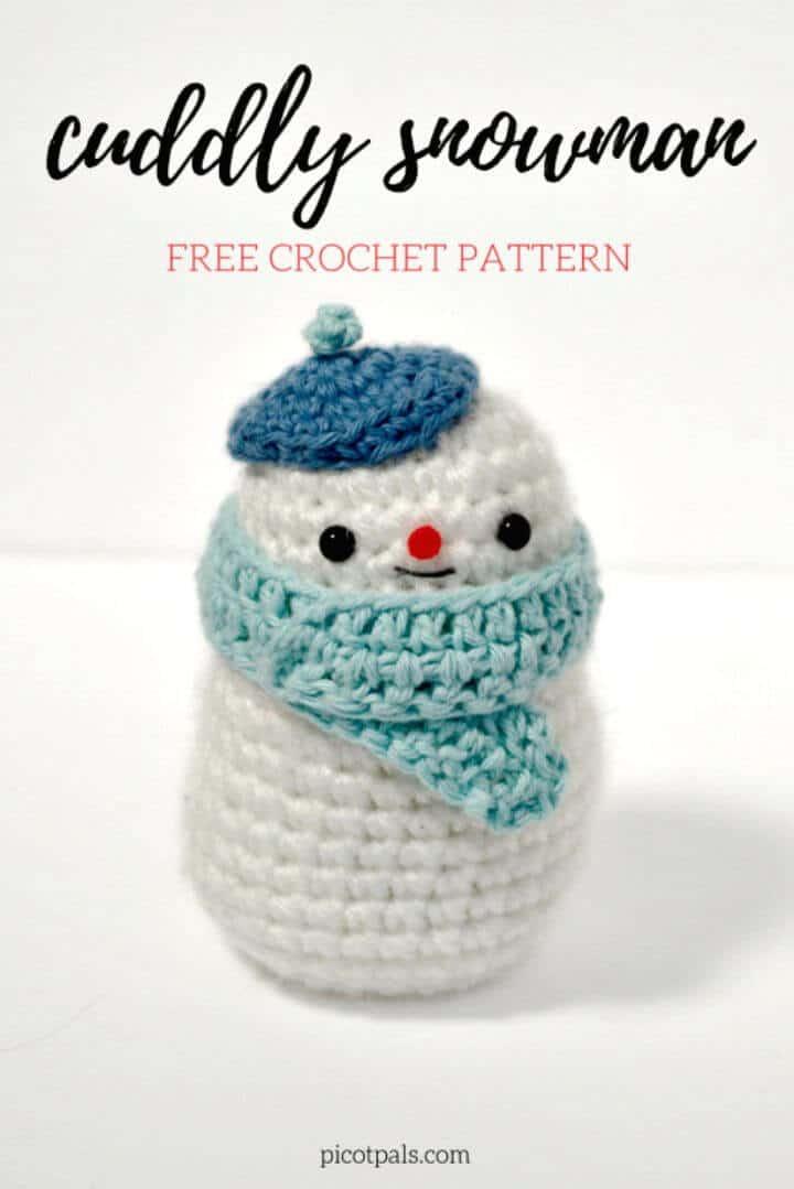 Cómo hacer un patrón de muñeco de nieve de ganchillo gratis