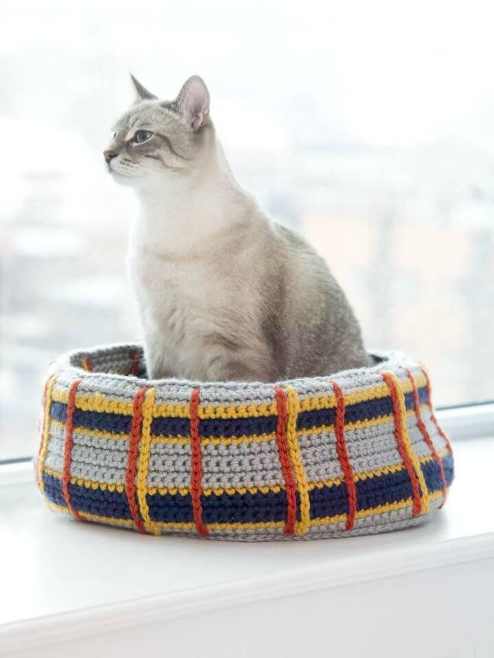 Cómo liberar el patrón de cama de gato curl-up de ganchillo