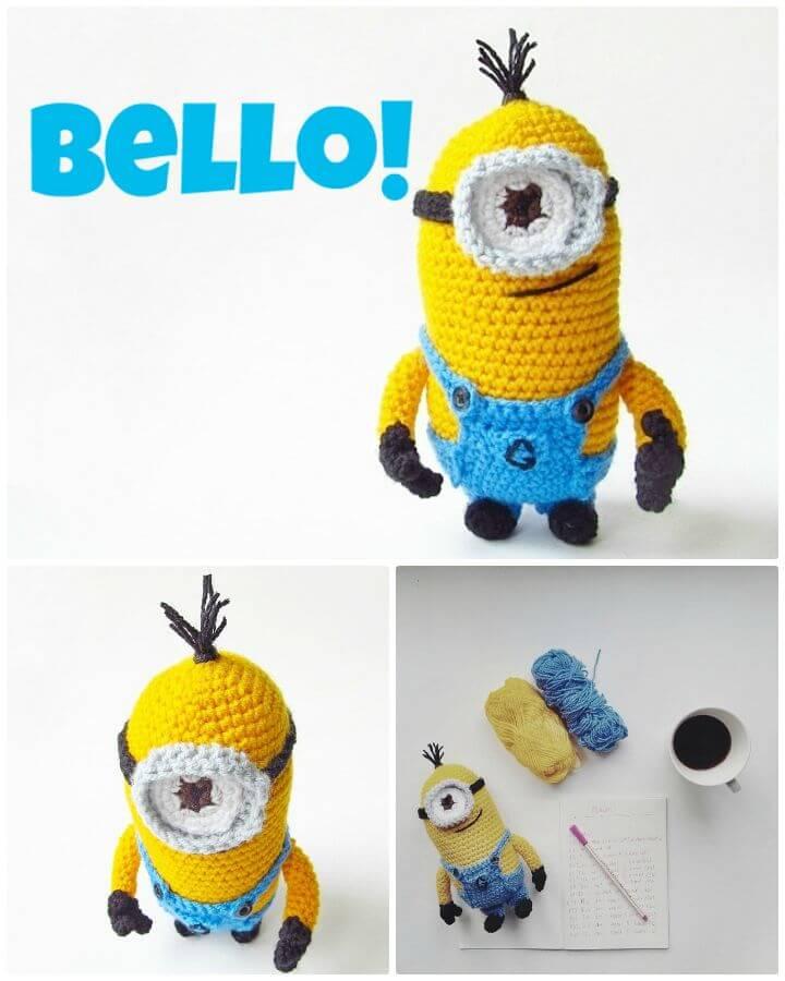Fácil Crochet Minion Amigurumi Despicable Me - Patrón Gratis