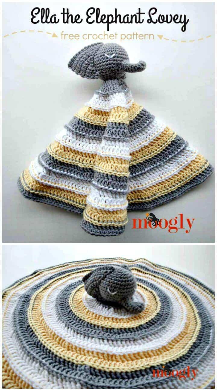 Cómo hacer crochet gratis Ella the Elephant Lovey Pattern