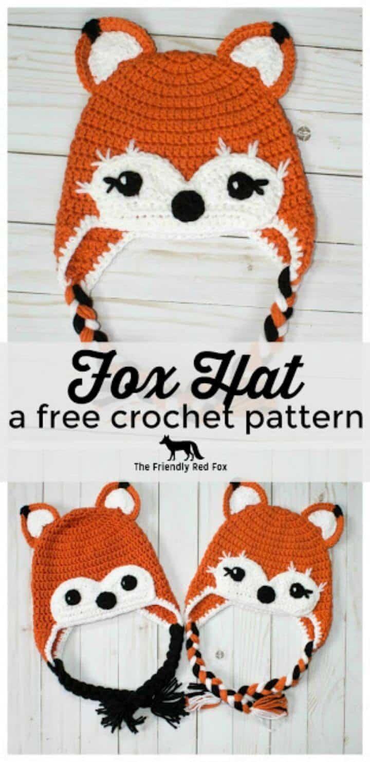 Cómo hacer un patrón de sombrero de zorro amigable a crochet gratis