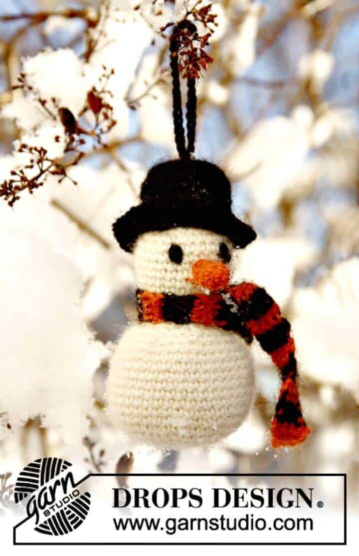 Cómo tejer a crochet Frosty The Snowman - Patrón gratuito