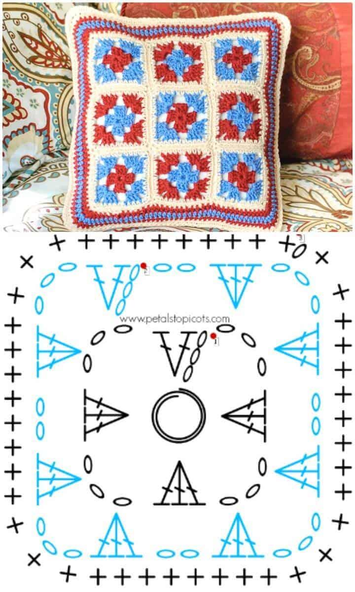 Cómo hacer un patrón de almohada de ganchillo gratis