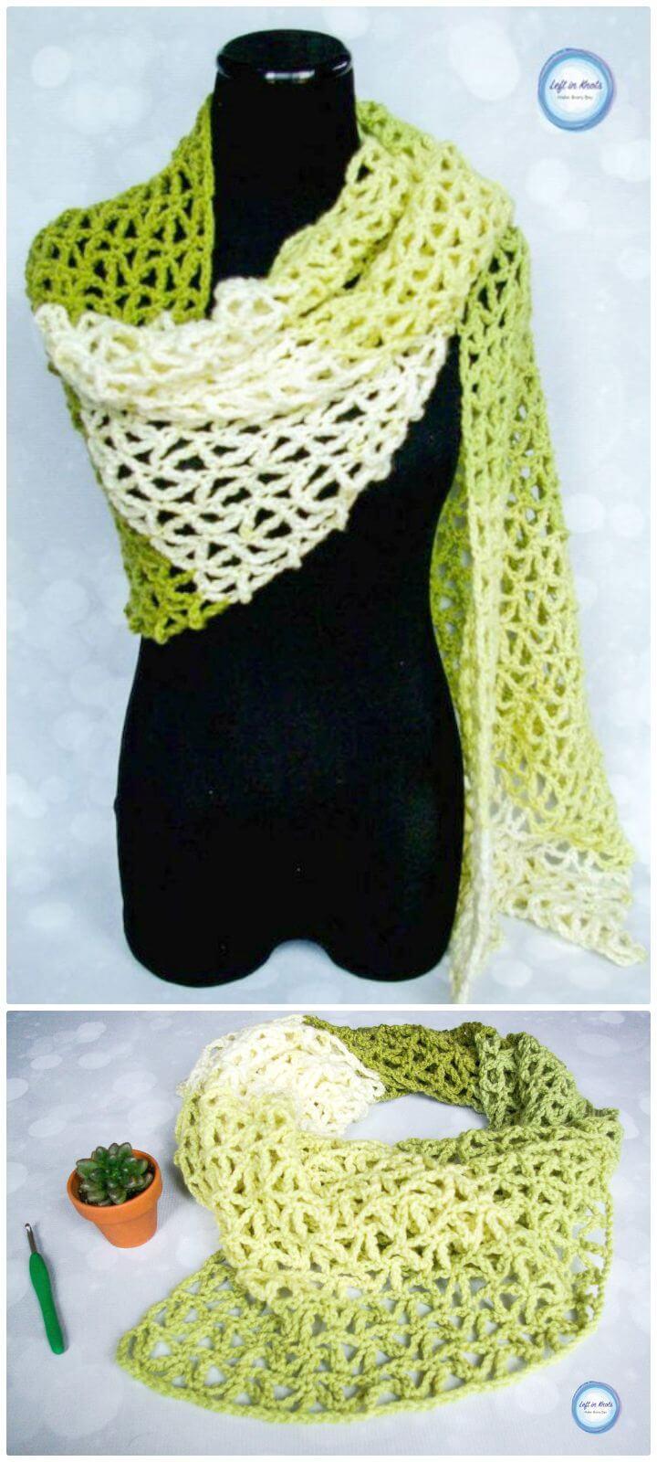 Cómo liberar el patrón de envoltura verde de ganchillo - Caron Cakes Yarn