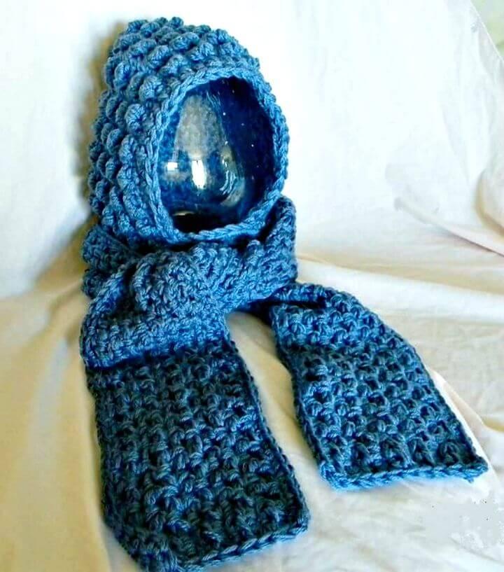 Patrón de calentadores de manos, bufanda y capucha de ganchillo fácil y gratis