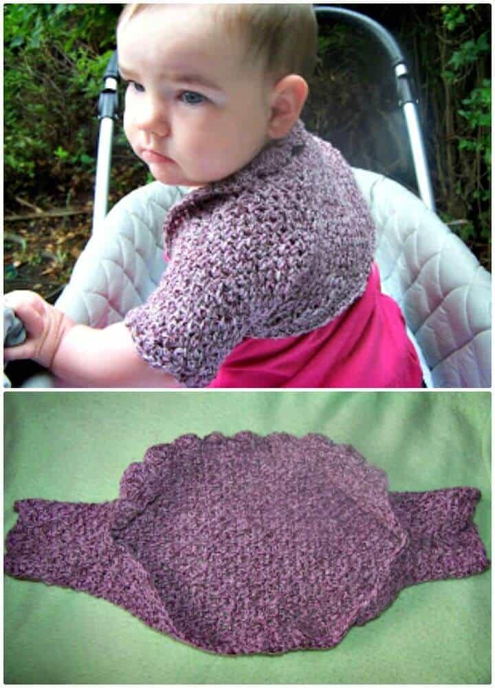 Cómo hacer crochet gratis con solo un patrón de encogimiento de hombros