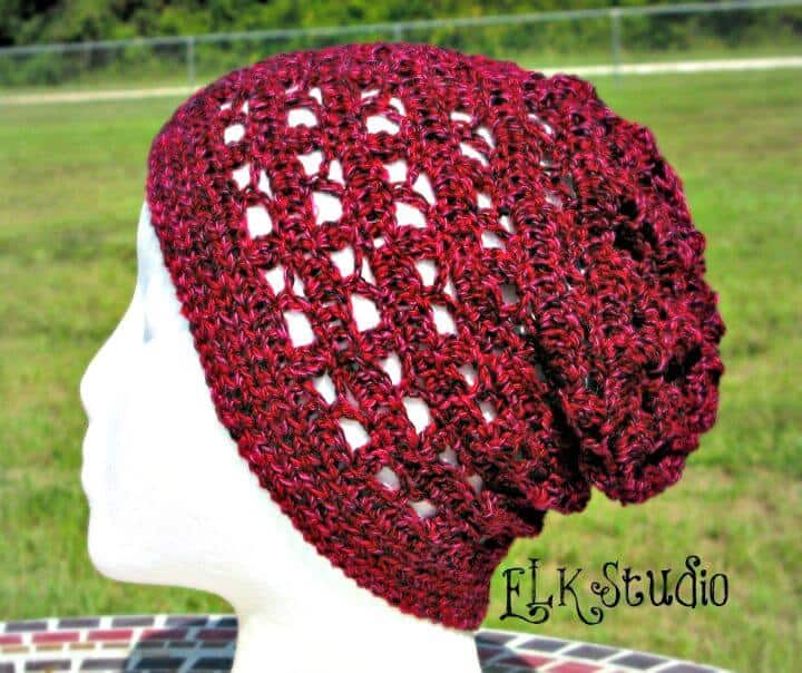 Crochet gratis Just To Be Cute Slouchy Beanie Pattern