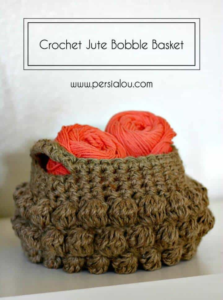 Cómo hacer un patrón de canasta de yute de crochet gratis
