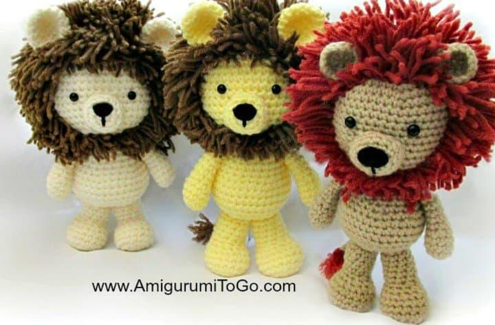 Cómo tejer a crochet Little Bigfoot Lion - Patrón gratuito