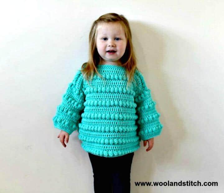 Cómo liberar el patrón de suéter de crochet para niños pequeños