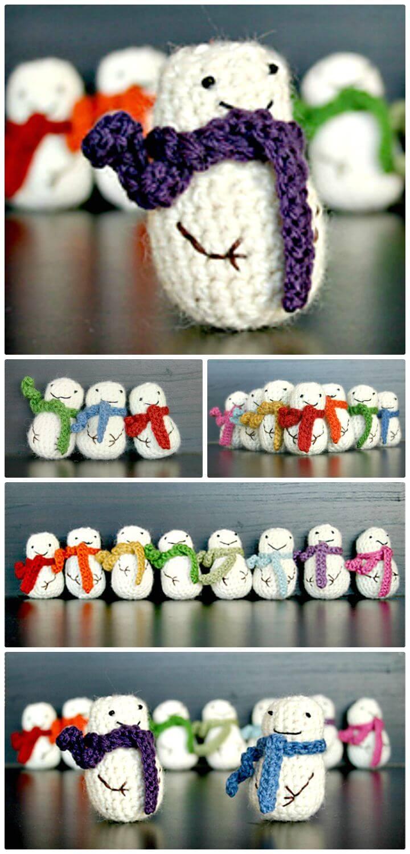Cómo tejer un muñeco de nieve a crochet