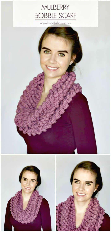 Cómo liberar el patrón de bufanda de mora de ganchillo