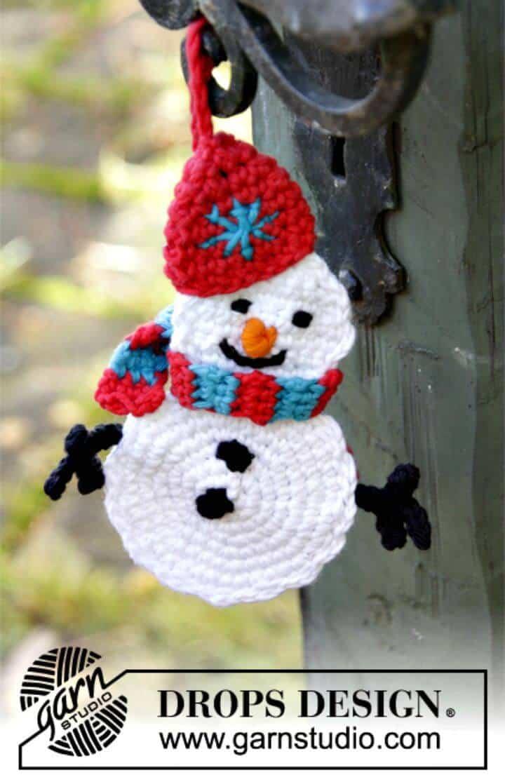 Patrón de muñeco de nieve Olaf de ganchillo gratis