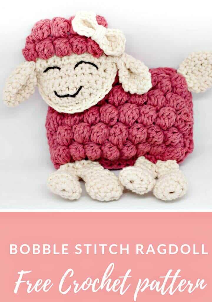 Cómo tejer un muñeco de trapo en crochet usando Bobble Stitch - Patrón gratuito