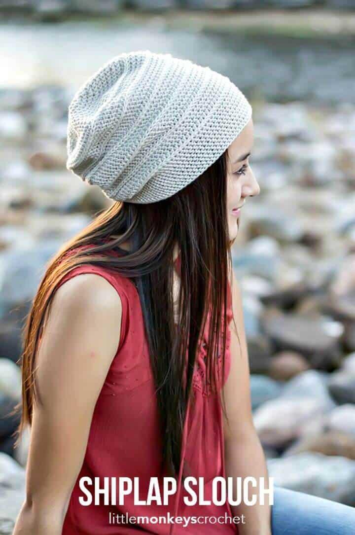 Cómo liberar el patrón de sombrero de ganchillo Shiplap Slouch
