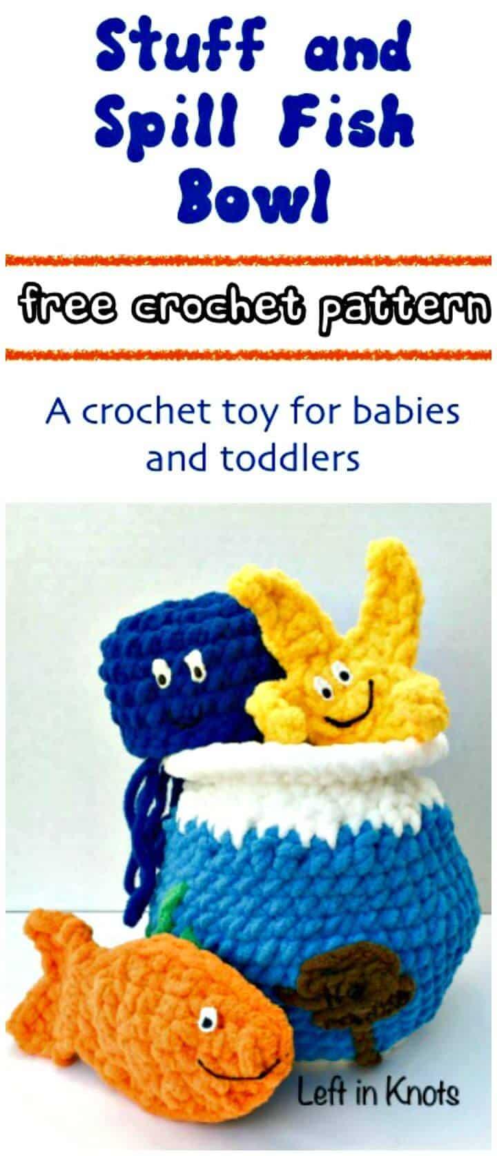 Crochet Stuff and Spill Fish Bowl Free Pattern