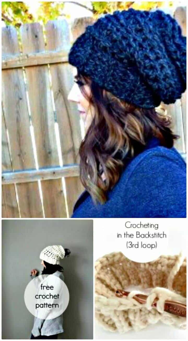 Crochet gratis El mejor patrón de sombrero holgado para principiantes