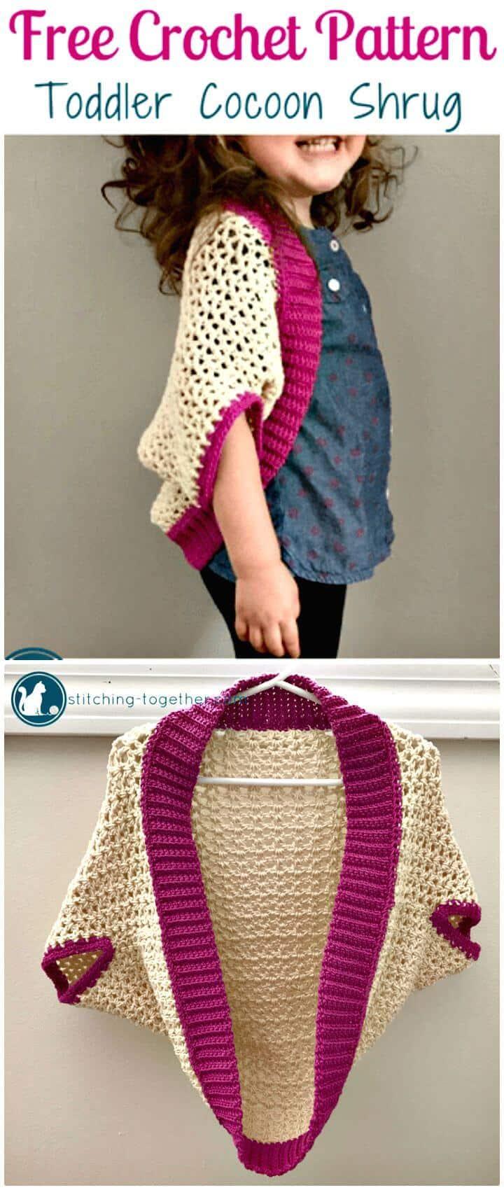 Patrón de encogimiento de hombros Cocoon de crochet gratis