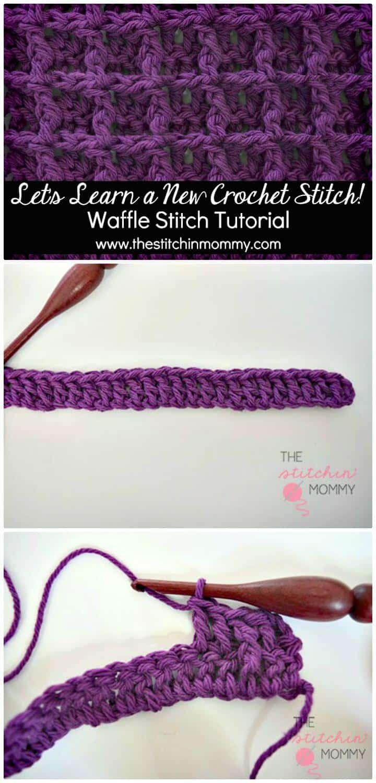 Cómo hacer punto de gofre en crochet - Patrón gratuito