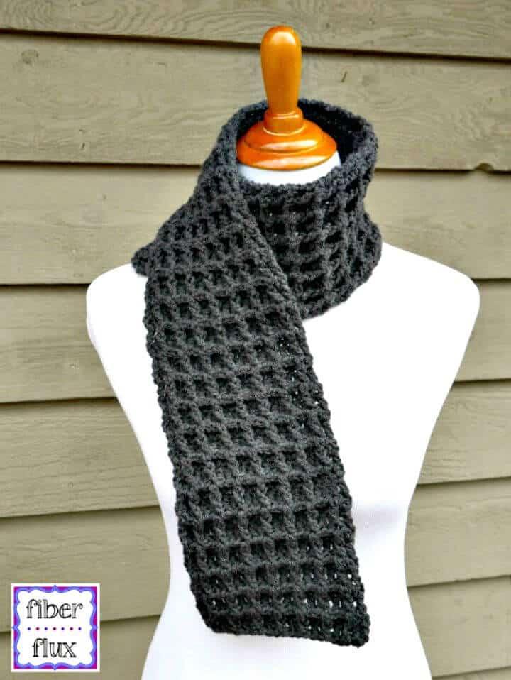 Cómo tejer una bufanda de punto de gofre en crochet