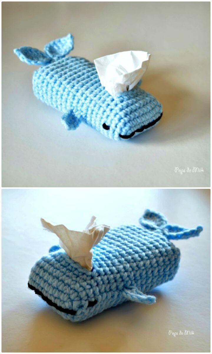 Cómo liberar el patrón acogedor de tejido de ballena de ganchillo