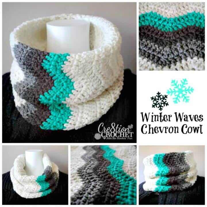 Cómo liberar el patrón de capucha de chevrón de ondas de invierno de ganchillo