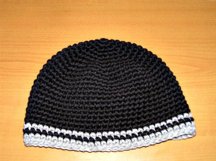 Patrón de sombrero de ganchillo fácil y gratuito para hombres