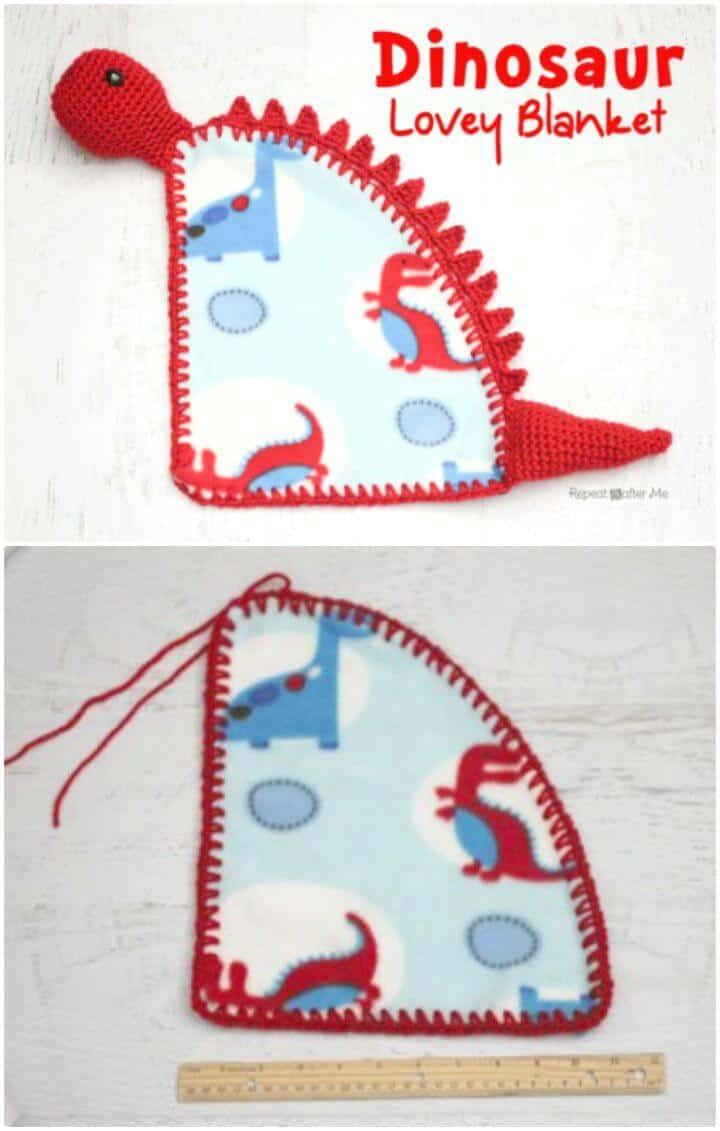 Cómo liberar el patrón de manta Lovey de dinosaurio de ganchillo